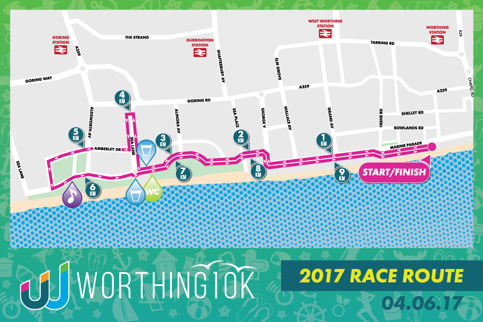 Worthing 10k race route